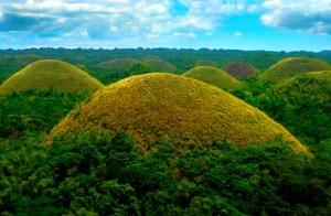 Chocolate_Hills تپههای شکلاتی در فیلیپین