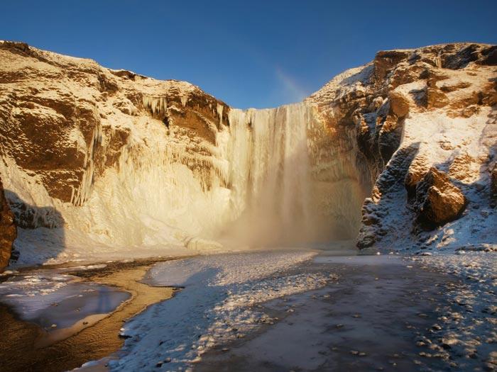 skogafoss-iceland آبشار اسکگوافوس