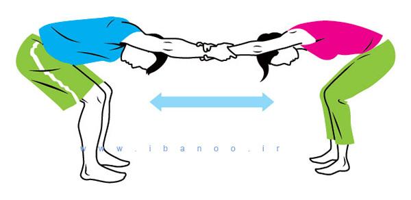 حرکات کششی دو نفره,cuople-stretch-1