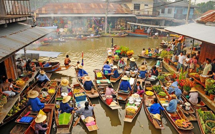 جاهای دیدنی بانکوک تایلند,4-floating-markets
