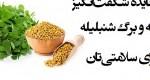 خواص دانه و برگ شنبلیله چیست؟