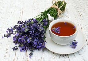 Lavender herbal tea