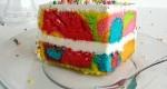 طرز تهیه کیک های رنگین کمانی