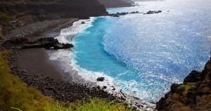 El Bollullo black-sand-beach