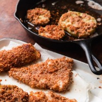 Pecan-Crusted Fish with Fried Tomatoes
