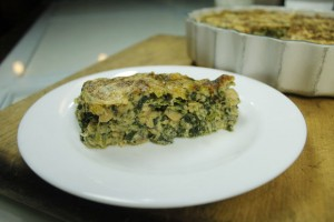 Salmon and spinach souffle