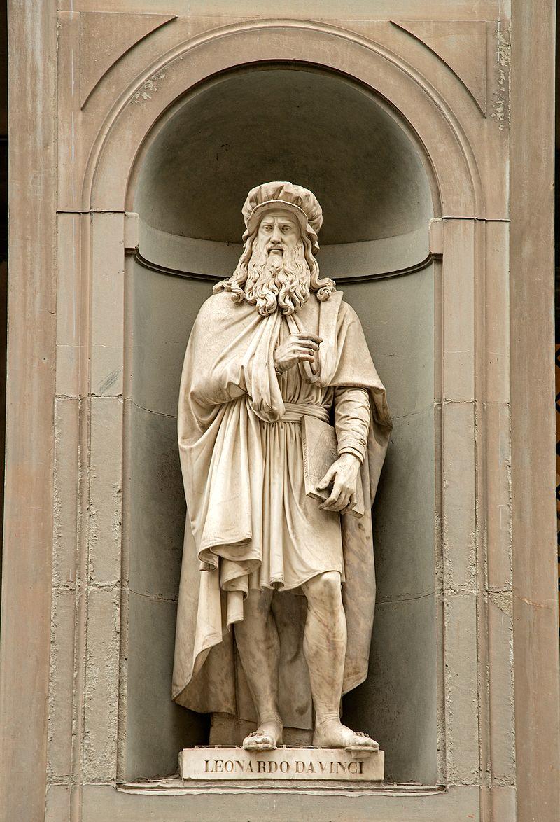 Statue outside the Uffizi, Florence, created by Luigi Pampaloni