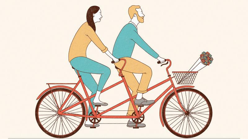 couple-bike,سلامت زوجین