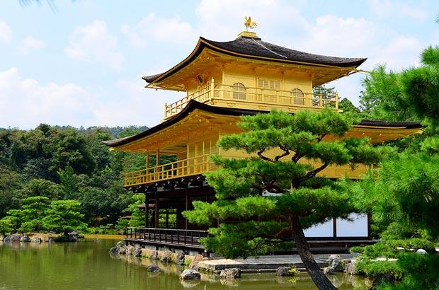 دیدنی های کیوتو ژاپن,عمارت طلایی-kyoto-kinkakuji-golden-pavilion