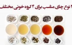 چای گیاهی مخصوص گروه های خونی