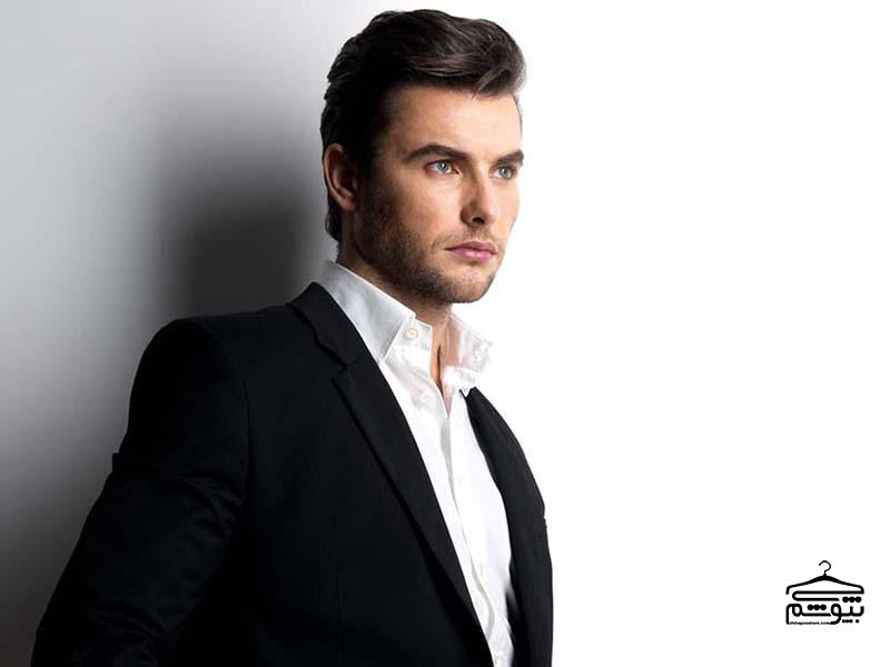 Fashion-young-man-in-black-suit