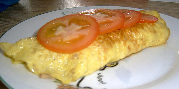 Cheese and ham omelette