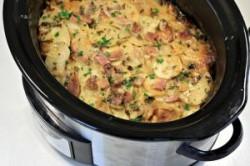 طرز تهیه کاسرول گوشت و سیب زمینی پنیری