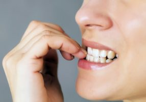 nail chewing