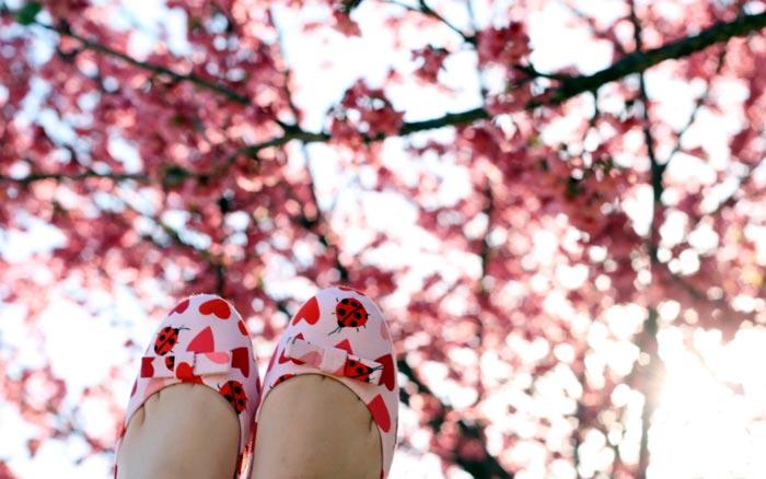 استاتوس عاشقانه بهاری spring-love-shoes