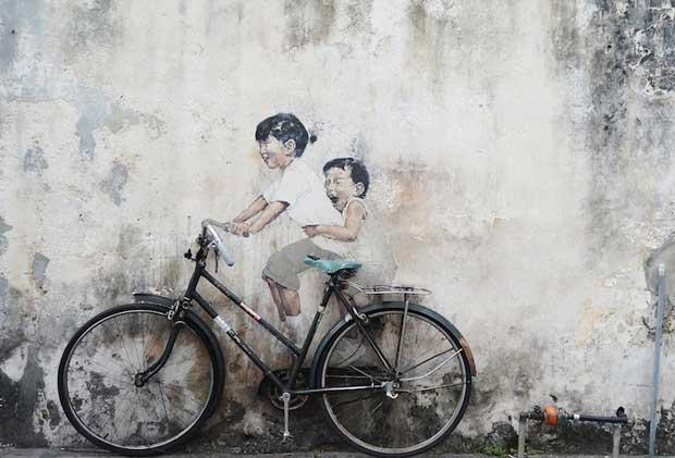 جاهای دیدنی جزیره پنانگ مالزی,خیابان هنر پنانگ-penang_street_art