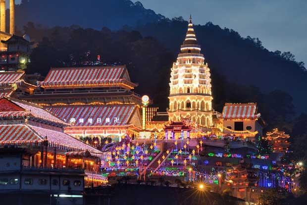 جاهای دیدنی جزیره پنانگ مالزی,معبد کک لوک سی-kek_lok_si_temple