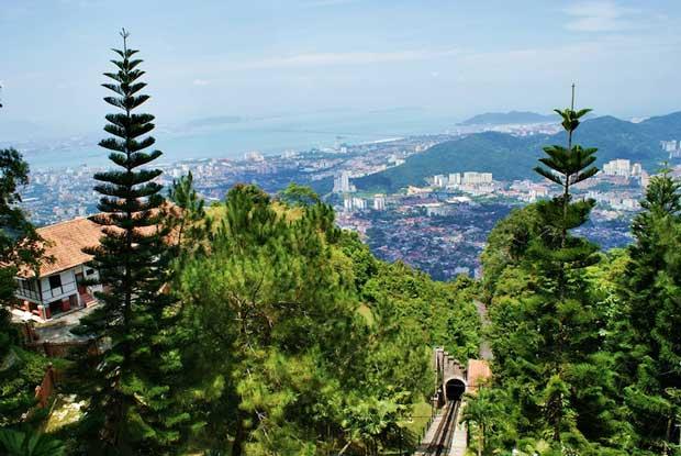 جاهای دیدنی جزیره پنانگ مالزی,تپه پنانگ-penang_hill