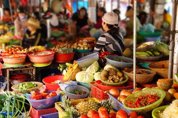 جاهای دیدنی شهر هوی آن Hoi An در ویتنام,بازار مرکزی-hoi_an_central_market