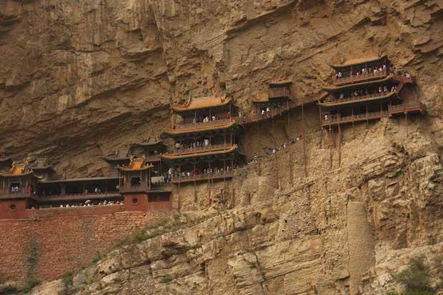 معابد چین,صومعه آویز-hanging_monastery