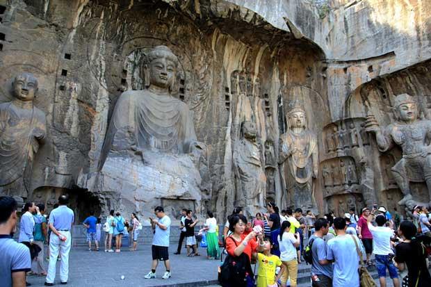 معابد چین,زیباترین معبدهای چینی,معابد سرزمین Longmen
