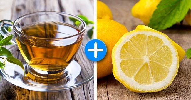 Green tea and lemon juice