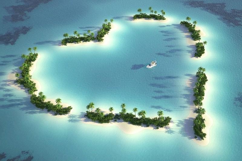 Heart اماکن رمانتیک دنیا برای سفر