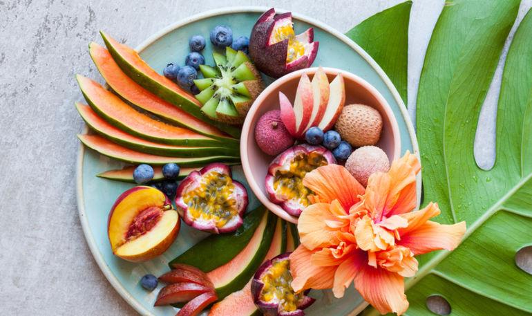 غذاهای خوشمزه بخورید colorful foods