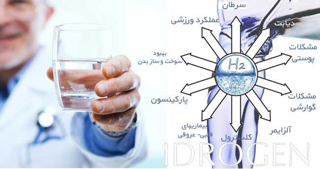idrogen آب غنی با هیدروژن