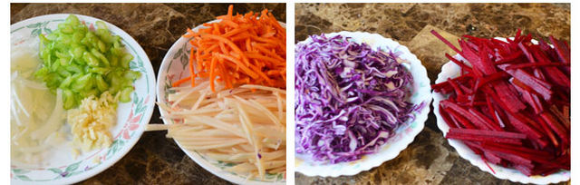 آموزش پخت سوپ مرغ ، سیب زمینی و چغندر