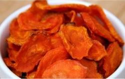 طرز تهیه چیپس هویج با 79 کالری