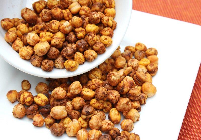 roasted-honey-cinnamon-chickpeasطرز جفت و جور نخود بو داده