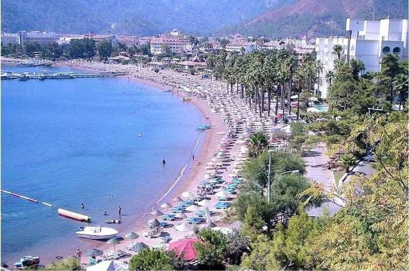 جاهای دیدنی تفریحی مارماریس ترکیه,ساحل ایچملر مارماریس