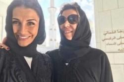 همسران بازیکنان رئال مادرید با حجاب در مسجد!+عکس
