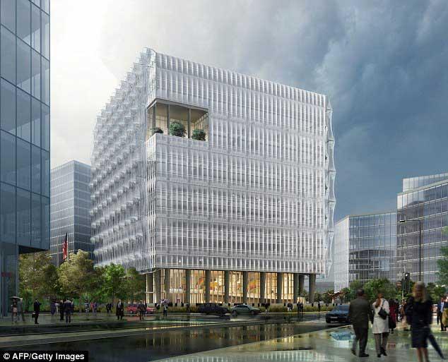 ساختمان سفارتخانه جدید آمریکا در انگلستان