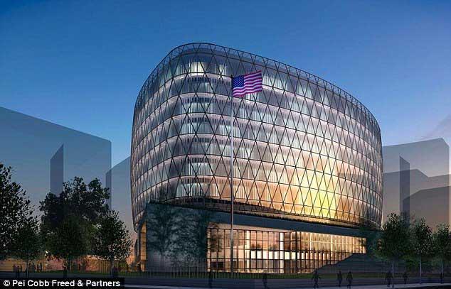 ساختمون سفارتخانه جدید آمریکا در انگلستان