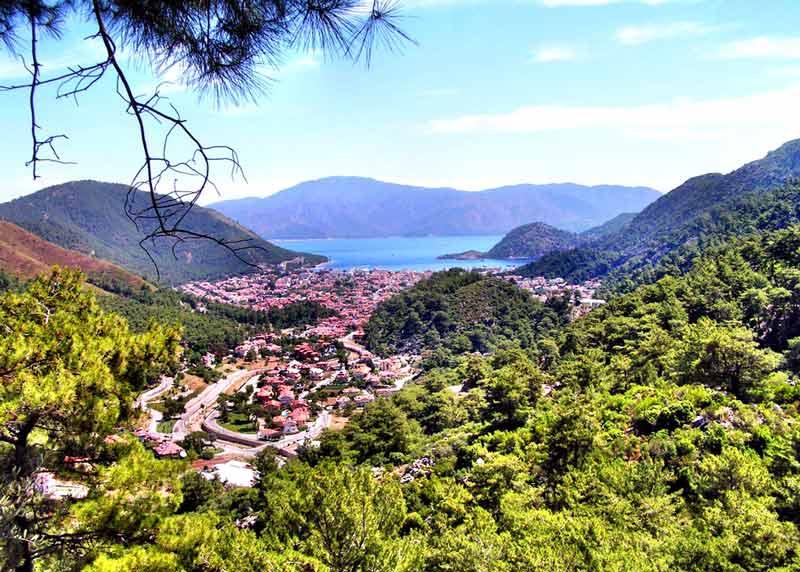 جاهای دیدنی تفریحی مارماریس ترکیه,کوه های مارماریس