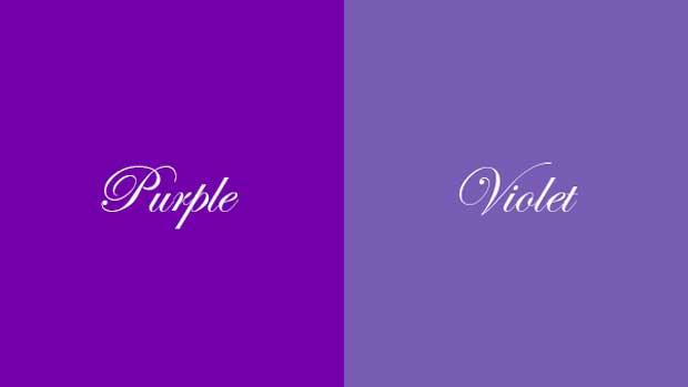 رنگ بنفش purple