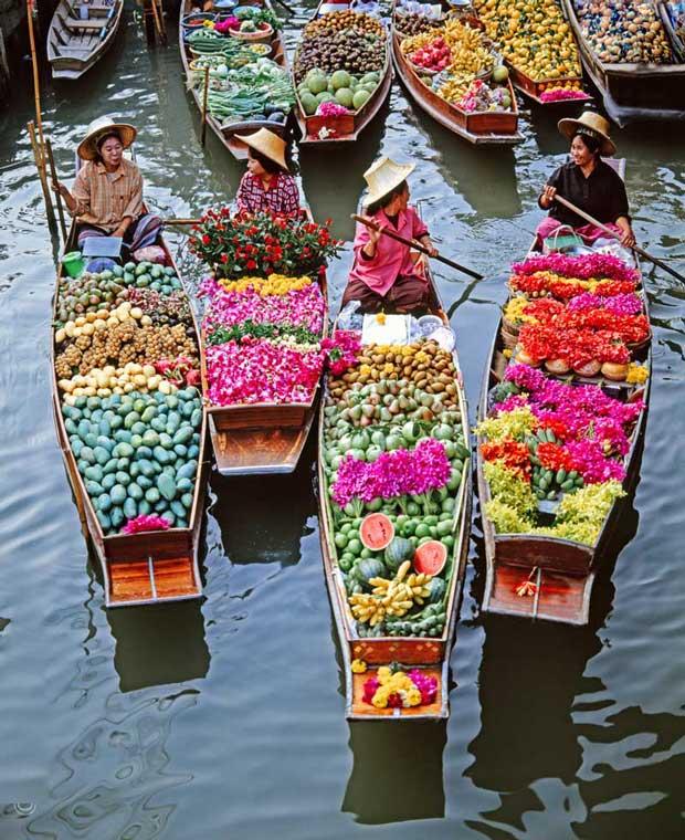 دیدنیهای تور بانکوک,بازارهای شناور بانکوک