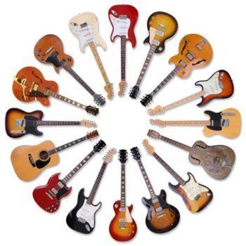انتخاب یک ساز موسیقی- انواع گیتار
