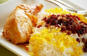 خوراک مرغ و برنج