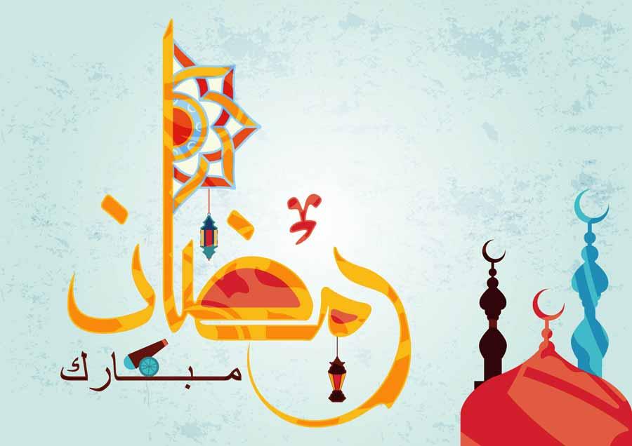 پس زمینه تبریک ماه رمضان