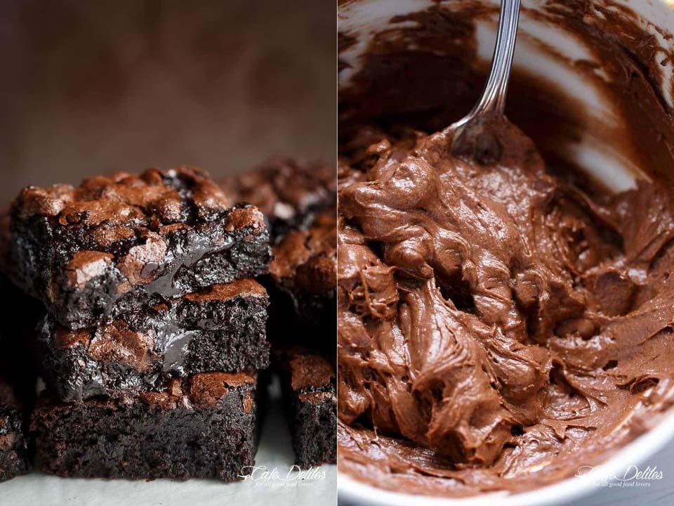 طرز تهیه براونی شکلاتی