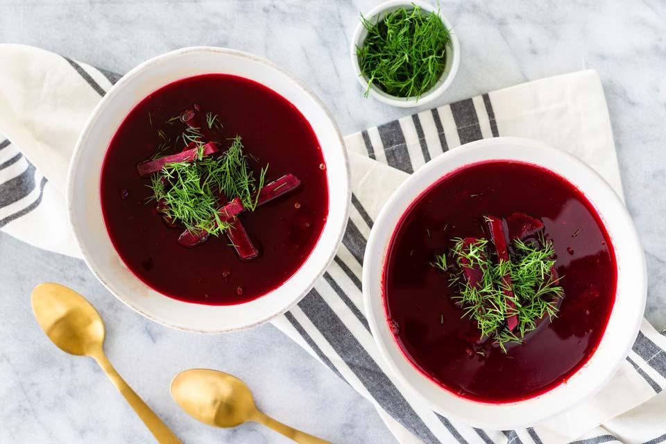 طرز تهیه سوپ چغندر قرمز و سیب زمینی