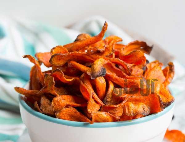 طرز تهیه چیپس هویج