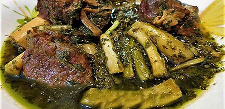 طرز تهیه خورش ریواس خوشمزه و مجلسی با لپه، گوشت و مرغ