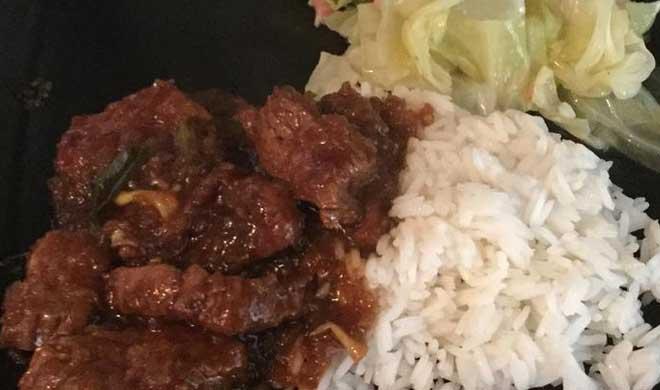 طرز تهیه خوراک گوشت گاو مغولی