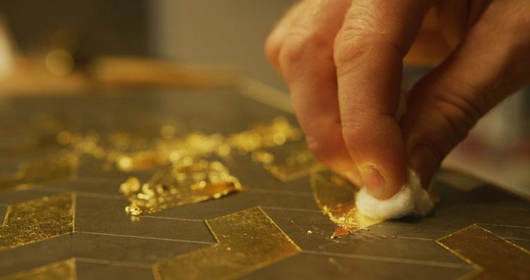 کاربرد ورق طلا و پودر طلایی در دکوراسیون داخلی